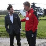 خوان ماتا لحظة وصوله الى مانشستر يونايتد
