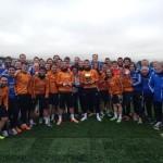 رونالدو يحتفل مع زملائه فى ريال مدريد بالكرة الذهبية