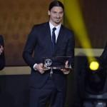 فيديو .. ابراهموفيتش يفوز بجائزة بوشكاش لافضل هدف فى عام 2013