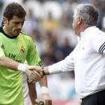 أنشيلوتي يواسي لاعبي الريال بعد خروج إسبانيا من المونديال