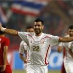 """لبنان يخفق فى التأهل لكأس اسيا بسبب """"هدف"""" رغم فوزه بخمسة على تايلاند"""