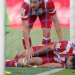 فيديو..دييجو كوستا يتلقى إصابة قوية خلال لقاء خيتافى