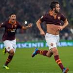 """فيديو .. بيانيتش يتقدم لروما على ميلان بهدف """"مهارى""""رائع"""
