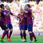 فيديو .. ميسى يقود برشلونة لمطاردة اتليتكو بثلاثية فى ريال بيتيس