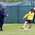اجويرو يعود لتدريبات السيتى استعدادا لمباراة ليفربول