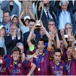 فيديو .. الحدادى يهدى دورى الابطال لبرشلونة