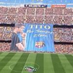 جماهير برشلونة تنعى رحيل فيلانوفا فى الكامب نو