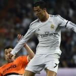 فيديو .. رونالدو يسجل هدفه الـ50 بكعب استعراضى رائع