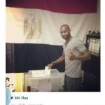 شيكابالا يدلي بصوته فى الانتخابات الرئاسية بالبرتغال