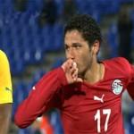 النني و باسم يسجلان أول أهدافهما الدولية في تعادل مصر مع جامايكا