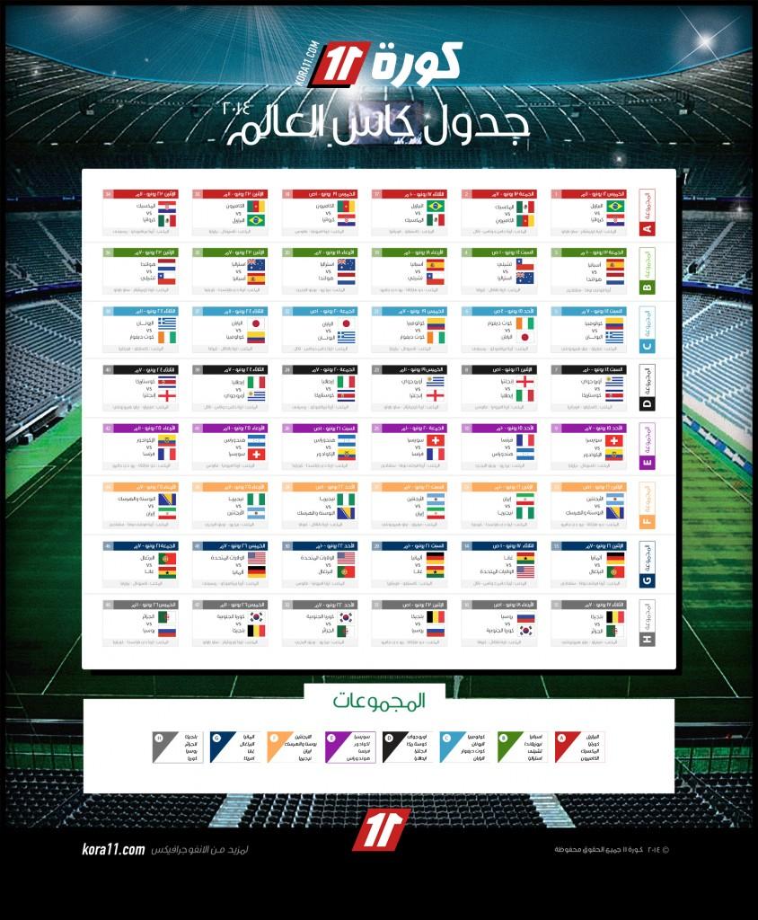 جدول-كاس-العالم-٢٠١٤