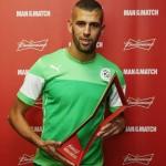 سليماني رجل مباراة الجزائر و روسيا