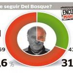 """الجماهير الإسبانية تطالب برحيل دل بوسكي في استفتاء """"ماركا"""""""