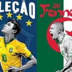 """""""ESPN""""  الرياضية تنشر ملصقات لمنتخبات كأس العالم 2014"""