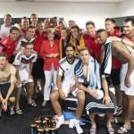 ميركل تساند المنتخب الالماني فى نهائي الماراكانا