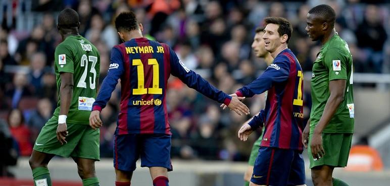 برشلونة يصفع ليفانتي بخماسية