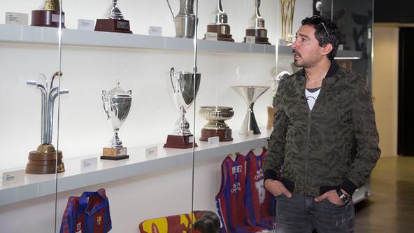 شاهد : بركات يكشف تفاصيل زيارته لبرشلونة