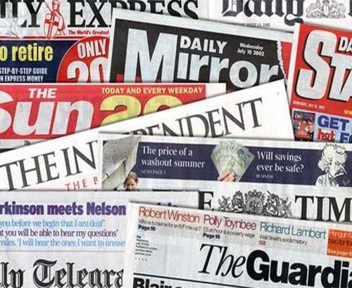 الصحف الانجليزية