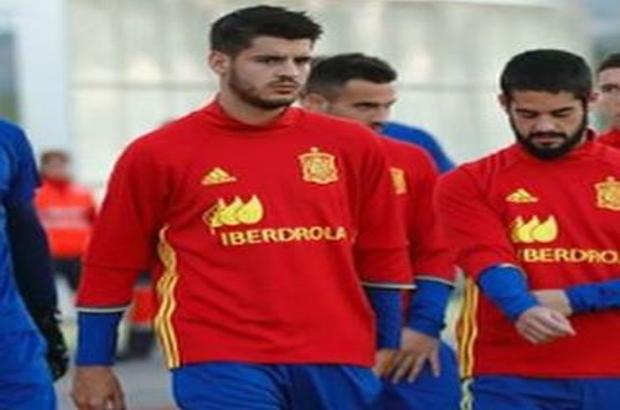 """فيديو .. هدف """"طائر"""" من موراتا في تدريبات إسبانيا"""