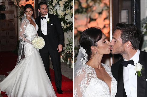 صور .. لامبارد يتزوج صديقته بعد 4 سنوات خطوبة