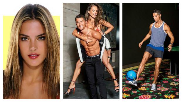 صور .. رونالدو يظهر عاريًا مع عارضة أزياء برازيلية