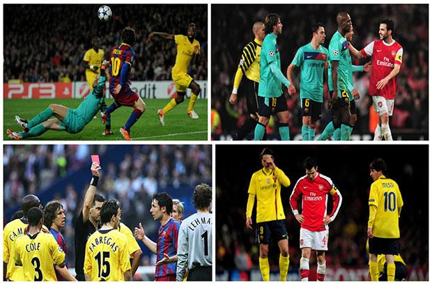 #يويفا11  فيديو .. 7 مباريات هي حصيلة مواجهات برشلونة و الارسنال في دوري الأبطال