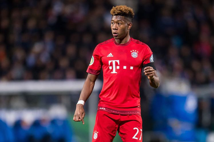 David Alaba of Bayern Munich during the Bundesliga match between VfL Bochum and Bayern Munich on February 4, 2016 at the RewirpowerSTADION in Bochum, Germany.(Photo by VI Images via Getty Images)