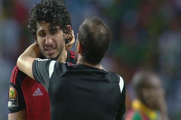 حجازي : لم أشاهد لاعب الكاميرون الذي سجل الهدف