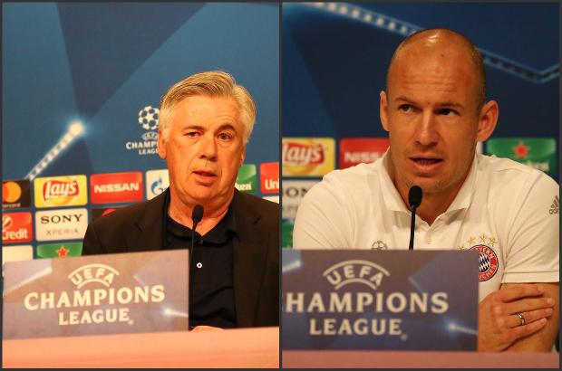 أنشيلوتي : مواجهة الريال خاصة بالنسبة لي.. روبن : أحب دائما اللعب ضد مدريد