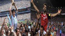 مارادونا يعدد مميزات صلاح ويوجه رسالة للفراعنة قبل المونديال !