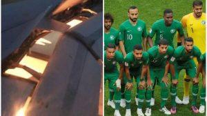فيديو.. العناية الإلهية تنقذ المنتخب السعودي بعد حريق في الطائرة