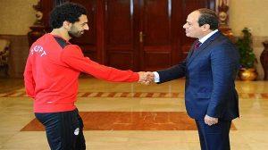 """محمد صلاح لـ""""السيسي"""": سأقاتل من أجل المشاركة في كأس العالم"""