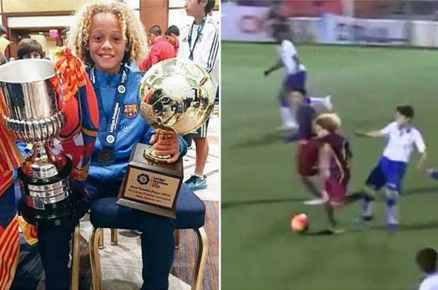 فيديو.. العالم يترقب موهبة برشلونة الجديد بشغف !