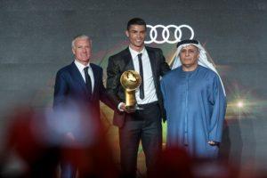 """""""جلوب سوكر"""" تمنح رونالدو جائزة أفضل لاعب في العالم 2018"""