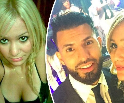 صور| أجويرو يترك ابنة مارادونا ويرافق ابنة مهاجم إنجلترا!