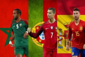 إسبانيا والبرتغال يخونا المغرب في معركة المونديال!